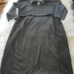 NEW Ann Taylor Midi Sweater Dress XXL Gray Fitted
